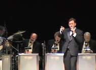 Vocalist Frank Lamphere leads the Rat Pack Jazz Big Band