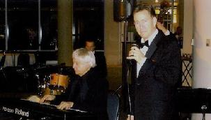 Singer Frank Lamphere with the late Billy Pierce (pianist-entertainer)